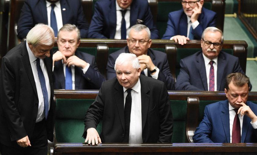Ławy poselskie PiS w Sejmie