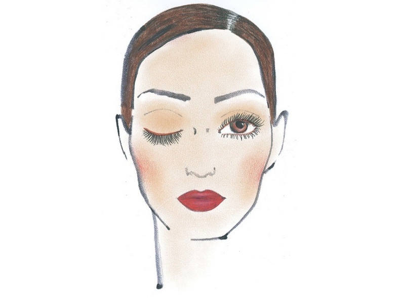 """""""Zmysłowe usta"""" - ostatnia z trzech propozycji makijażu Sephory na jesień 2011."""