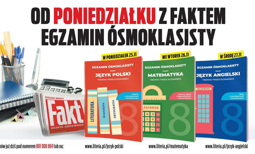 """Egzamin Ósmoklasisty z """"Faktem"""". Publikujemy przykładowe zadania"""