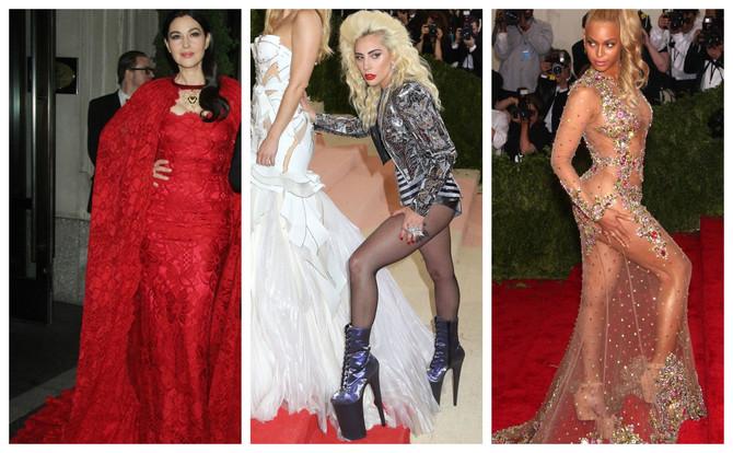 Istorija Met Gale: Monika Beluči, Ledi Gaga i Bijonse