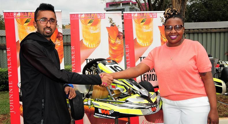 (L-R) Whistling Morans COO Neel Vadgama and EABL Head of International Premium Spirits With Grace Gwaku Nshemeire (1)