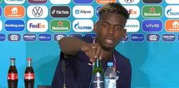 """Paul Pogba zaskoczył wszystkich na konferencji! Wykonał """"gest Ronaldo"""""""