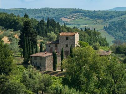 Rezydencja, która niegdyś należała do Michała Anioła znajduje się Chianti, między Sieną i Florencją