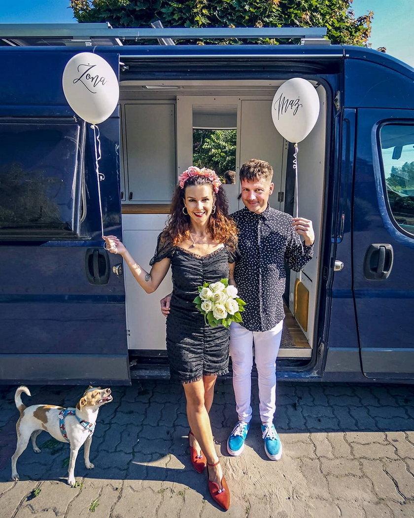 Jakub Tolak z żoną