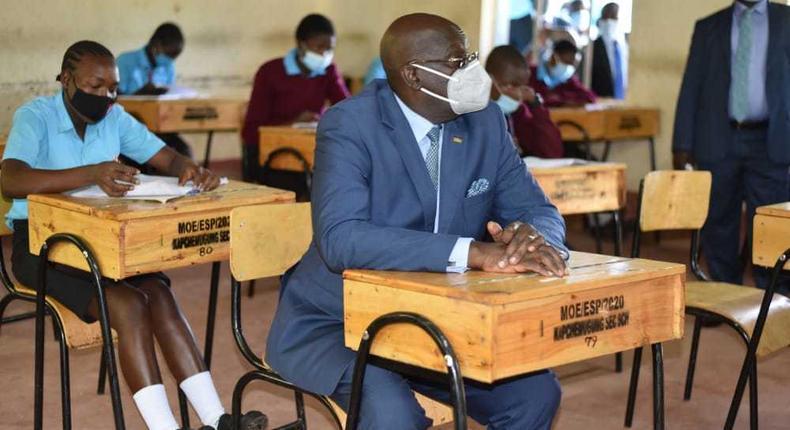 Education CS George Magoha during a tour of Kisumu and Vihiga counties