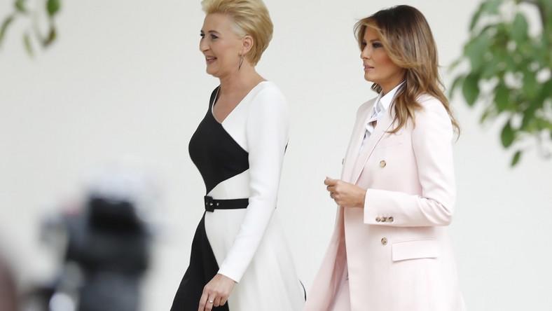 ... Pierwsze damy Polski i USA zaprezentowały dziś zupełnie odmienne style...