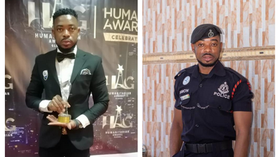 Police officer Lance Corporal Agbeko grabs another humanitarian award