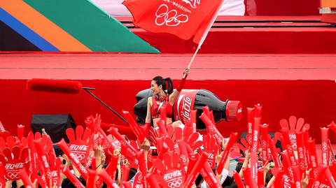 Coca-Cola held a massive Olympics celebration in Beijing in 2012