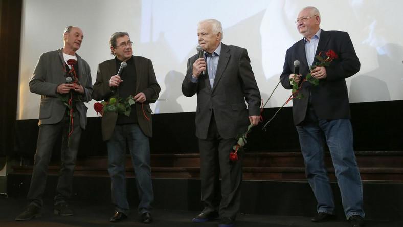 scena z: Dariusz Szpakowski, Janusz Gajos, Marian Opania, Janusz Zaorski, SK:, , fot. Engelbrecht/AKPA
