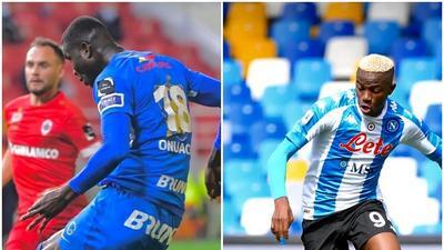 Nigerian Players Abroad: Victor Osimhen, Paul Onuachu Umar Sadiq, Anderson Estiti, Moses Simon all on target