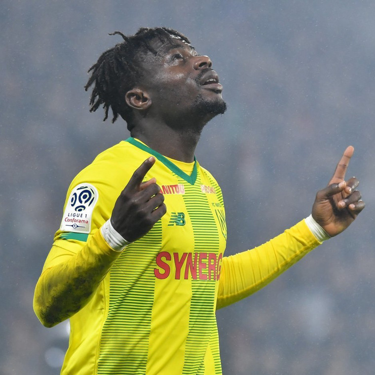 Moses Simon is the highest earner at his club (Twitter/Nantes)