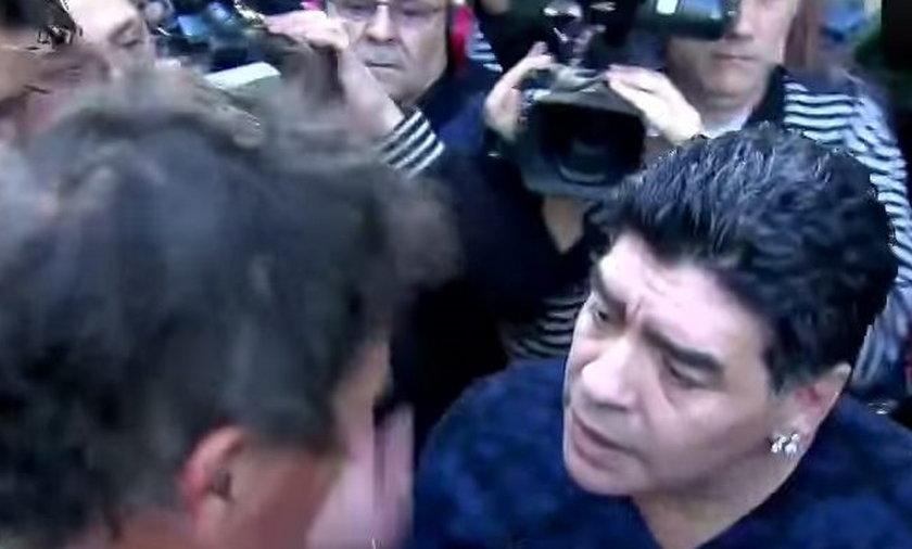 Maradona uderzył dziennikarza!