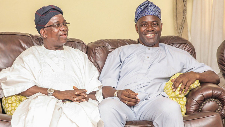 Deputy Governor Olaniyan (Left) with Governor Makinde (Right)
