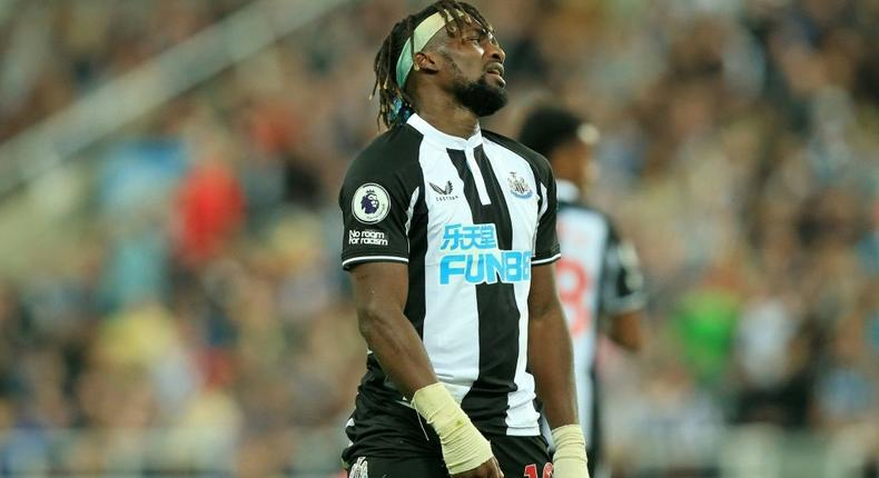 One that got away: Newcastle's Allan Saint-Maximin reacts after missing a chance in a 1-1 draw at home to Leeds Creator: Lindsey Parnaby