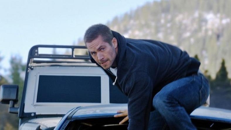 Paul Walker in a scene from Furious 7