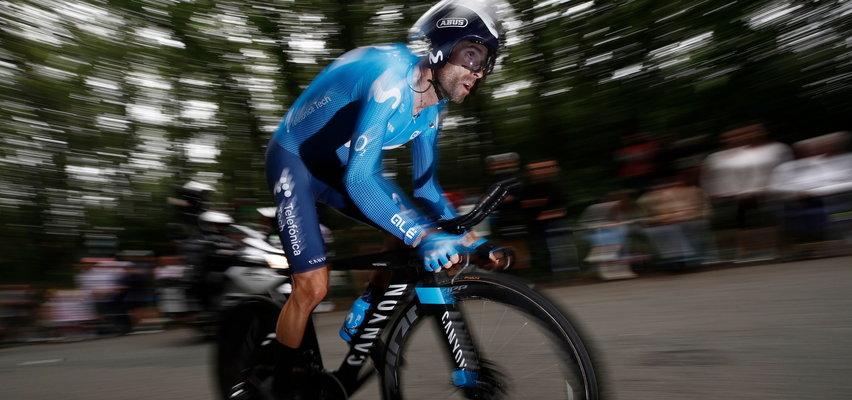Koszmarny upadek Alejandro Valverde. Słynny kolarz wycofał sięz Vuelta a Espana. WIDEO