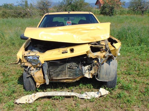 Automobil u kome se nalazila Suzana