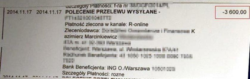 Marcinkiewicz: Odkąd ją poznałem, zawsze płacę