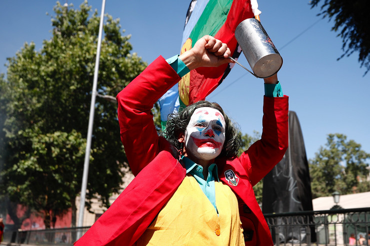 džoker maska čile protesti