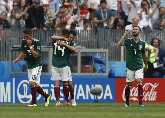 Slavlje Meksikanaca posle pobedonosnog gola