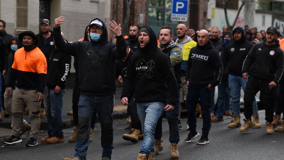 Protesty w Melbourne