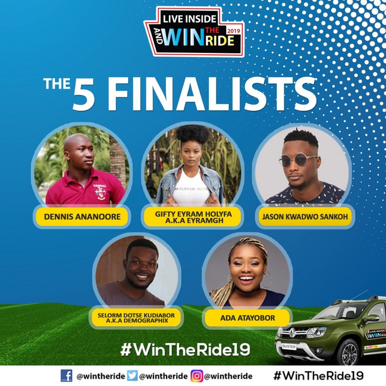 2019 'Live Inside and Win the Ride' reality show kick-starts with 5 contestants