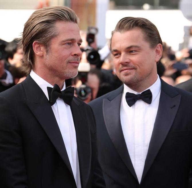 """Bred Pit i Leonardo Dikaprio sinoć na premijeri filma """"Jednom u Holivudu"""" u Kanu"""