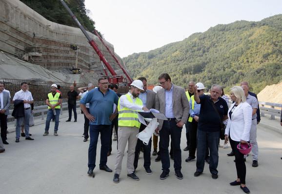 Jučerašnji obilazak Koridora 10 predsednika Srbije Aleksandra Vučića