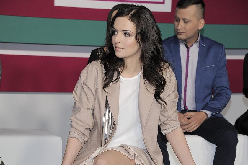 Anna Wendzikowska na konferencji wiosennej ramówki stacji TVN Style