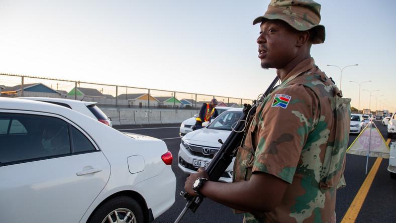 Policyjna blokada w RPA