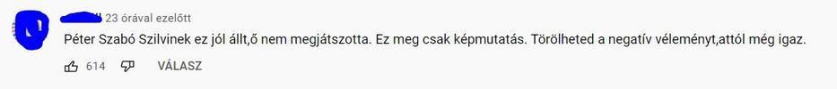 Tóth Gabi kemény kritikát kapott /fotó: Youtube