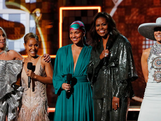 Michelle Obama podczas gali Grammy