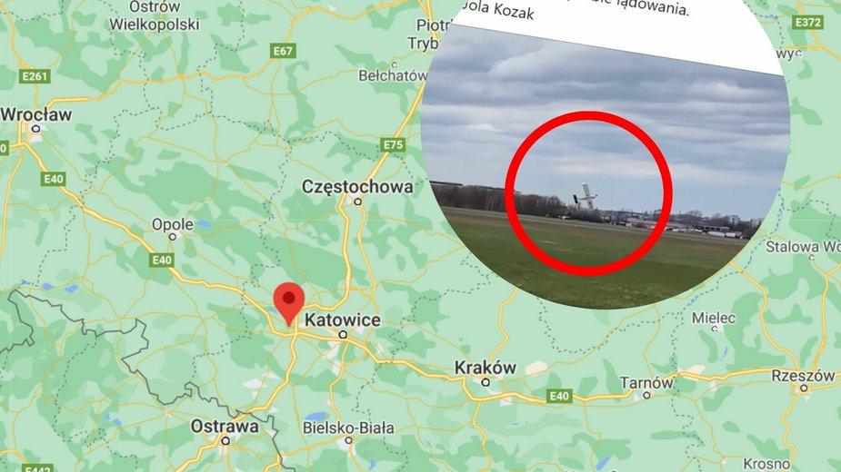 Gliwice: Wypadek na lotnisku. Jedna osoba ranna