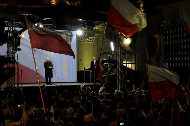 Obchody 7. rocznicy katastrofy smoleńskiej - wystąpienie prezesa Prawa i Sprawiedliwości Jarosława Kaczyńskiego