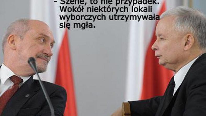 Antoni Macierewicz stwierdził, że PiS ma dowody na wyborcze fałszerstwa i wkrótce przedstawi je sądowi. Czyżby znowu mgła?