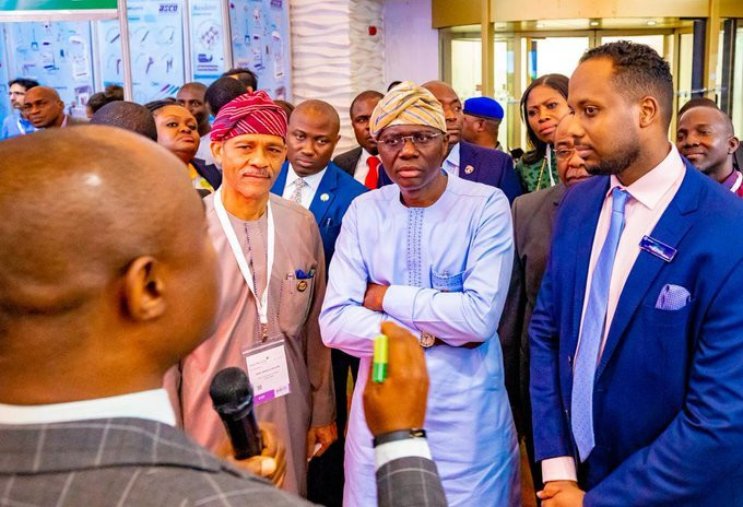 Lagos Gov Sanwo-Olu and Health Commissioner Abayomi  lead the charge against the coronavirus in Nigeria's most populous city (Twitter: @Jidesanwoolu)