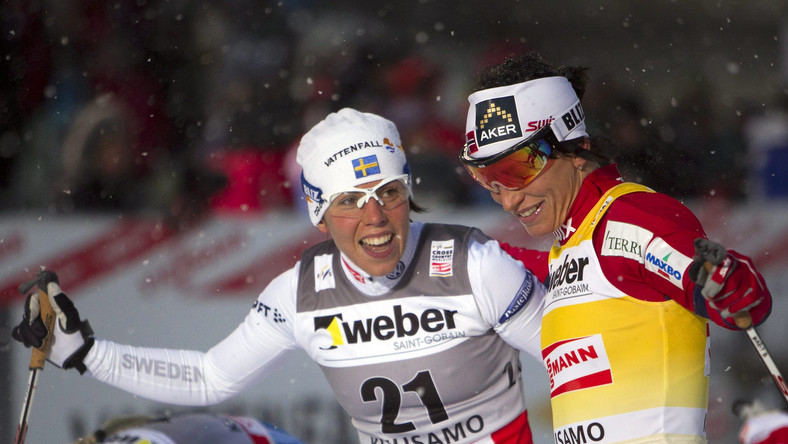 Charlotte Kalla i Marit Bjoergen