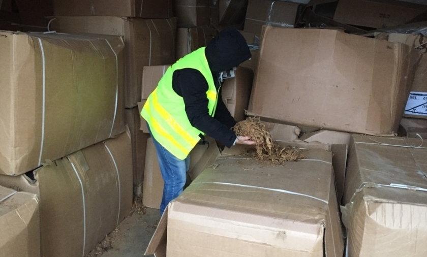 Policjanci znaleźli prawie 6 ton tytoniu