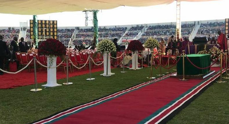 In Photos: Thousands of Kenyans converge at Nyayo Stadium for Moi's Memorial Service