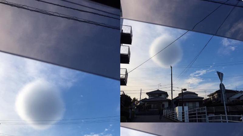 Nad Japonią zaobserwowano idealnie okrągłą chmurę