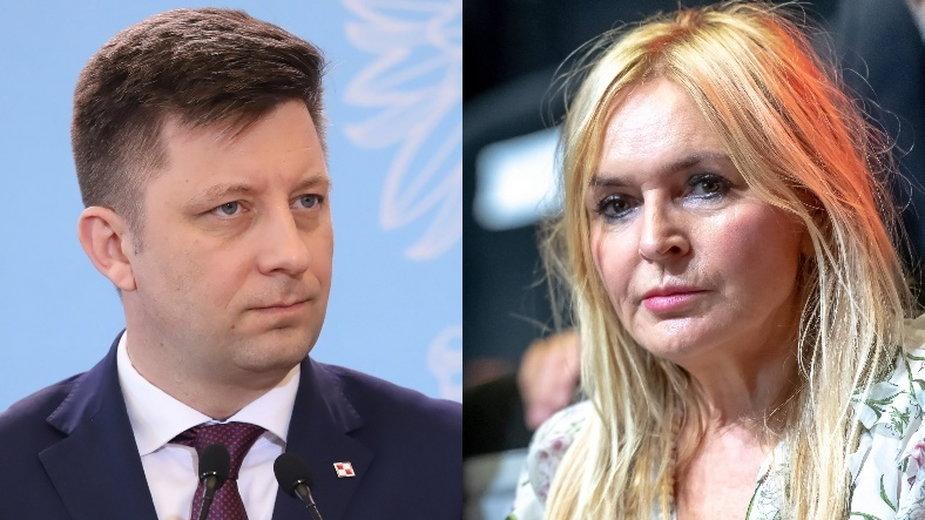 Michał Dworczyk i Monika Olejnik