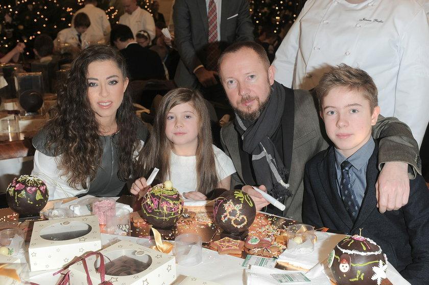 Natalia Kukulska z mężem i dziećmi