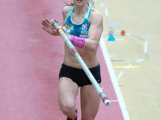 FILE AUSTRIA ATHLETICS POLE VAULTER KIRA GRUENBERG