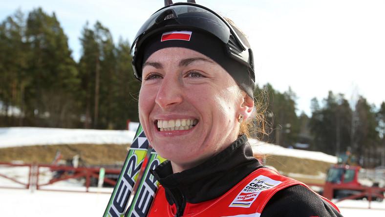 Uśmiechnięta Justyna Kowalczyk