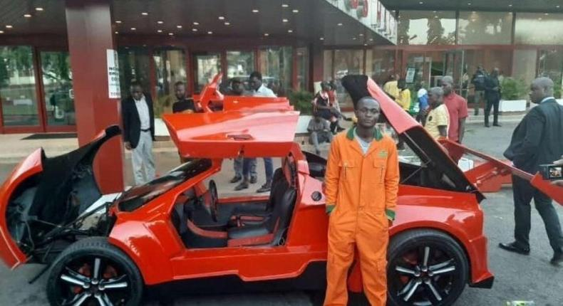 25-year-old Jerry Isaac Mallo has manufactured Nigeria's first carbon fiber sports cars (face2faceafrica)