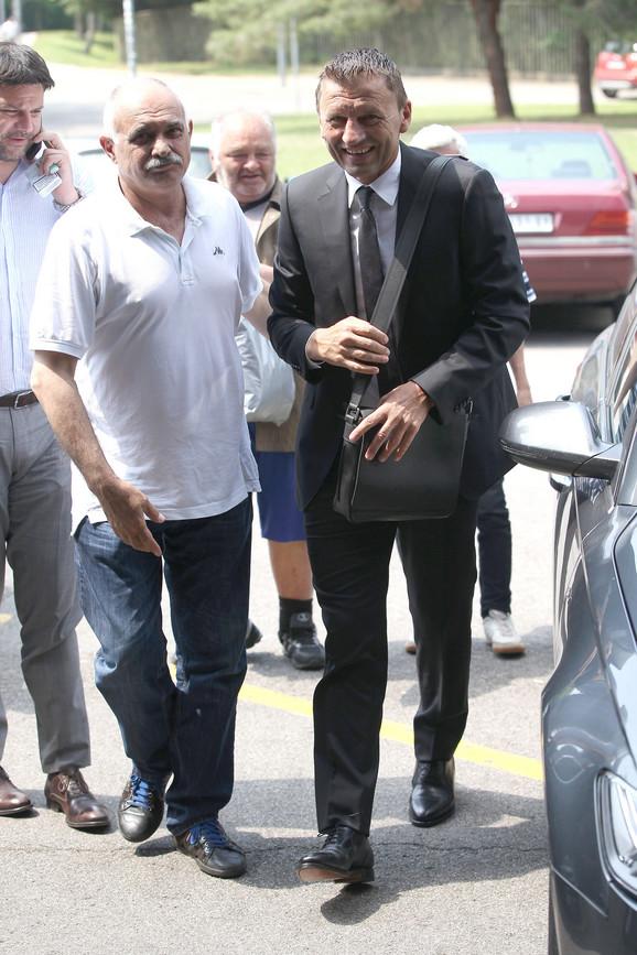 Miroslav Đukić stiže na stadion Partizana