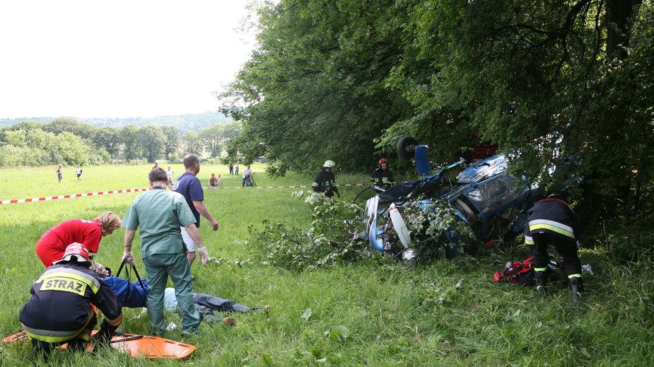 Wypadek lotniczy Tomasza Golloba i Rune Holty