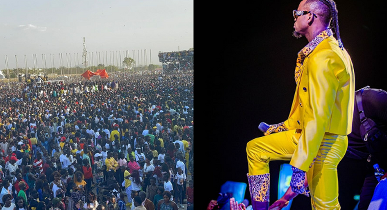 Diamond Brings South Sudan to a standstill with his electrifying performance to over 100K people (video)