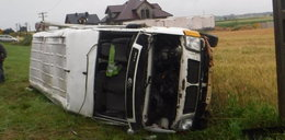 Wypadek busa pod Leżajskiem. Wielu rannych