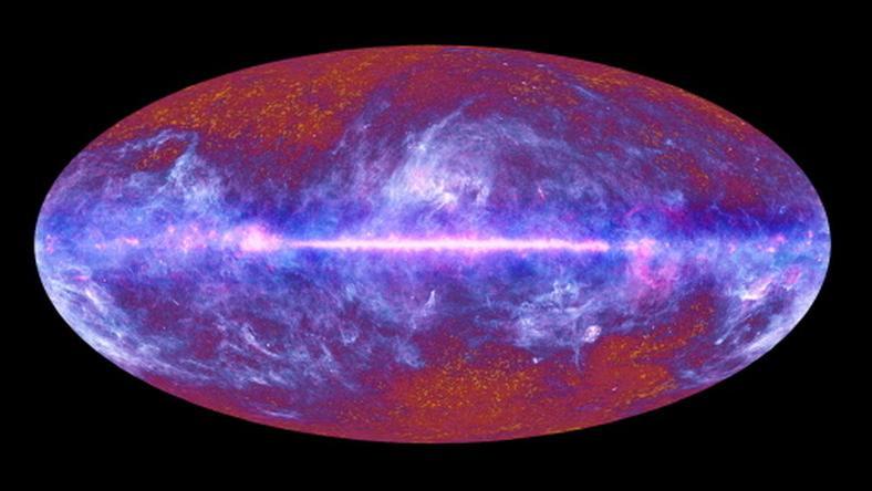 Zdjęcie wszechświata wykonane przez teleskop Plancka, fot. AFP
